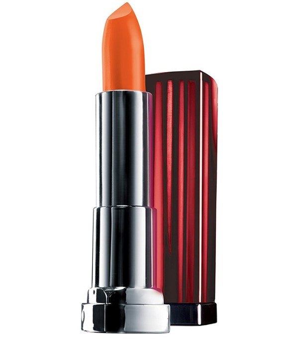 Insanely Pretty Orange Lipsticks to Try Today: Maybelline Color Sensational Vivids Lipcolor in Electric Orange |Summer Makeup Trends 2017