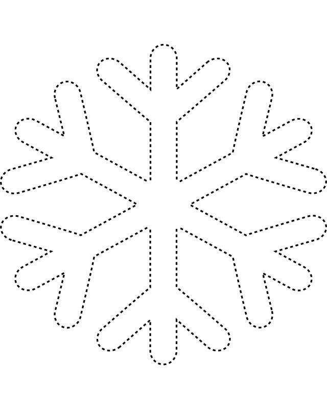 It's just a photo of Snowflakes Printable within make