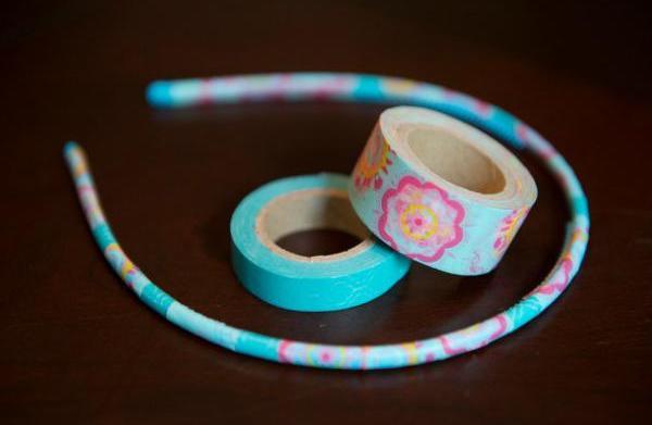DIY: Trendy washi headbands for girls
