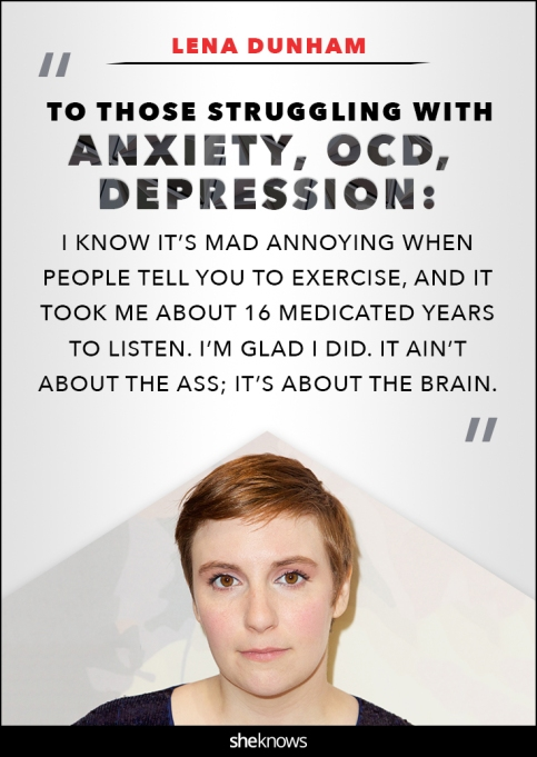 Lena Dunham anxiety quote