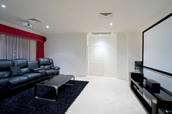 Media Room With Projection Screen