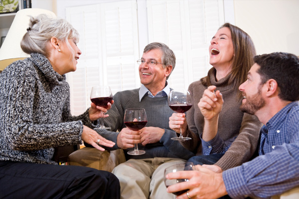 woman meeting boyfriends family