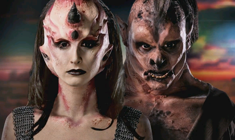 Meg Wilbur and Libby Rose's finished gatekeeper makeups