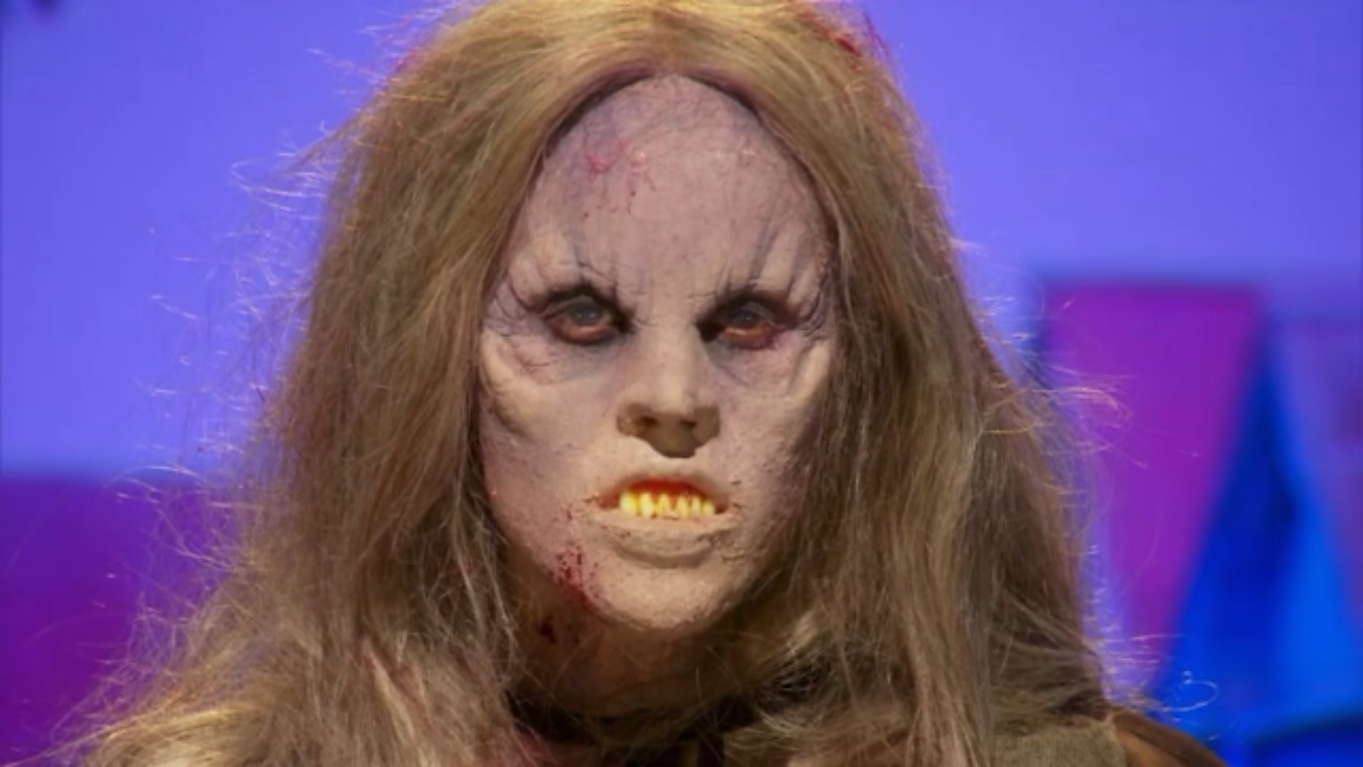 A close look at Meg Wilbur's finished makeup