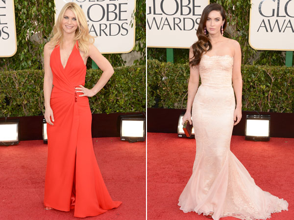 Claire Danes and Megan Fox at the 2013 Golden Globes