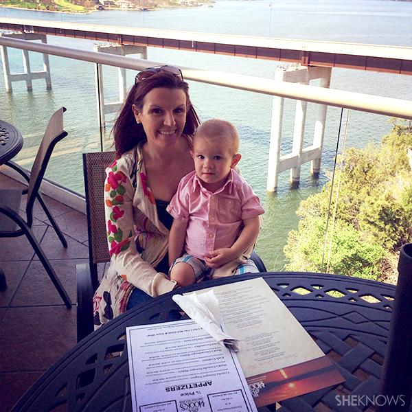 Megan Lunch Outside   Sheknows.com