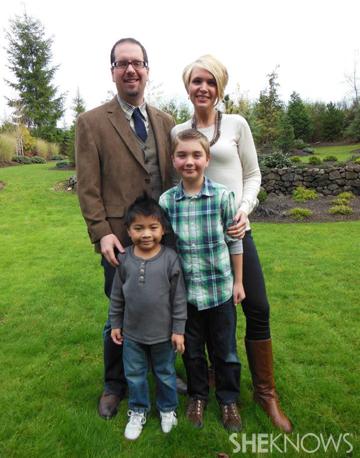 Megan Lyons and family