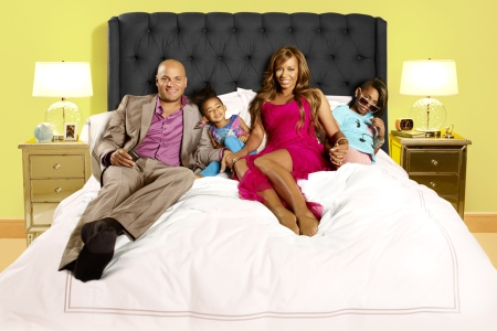 Mel B and her family in Mel B: It's a Scary World