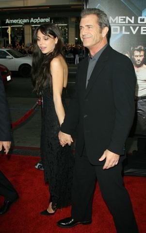 Mel and Oksana at the Wolverine premiere in LA