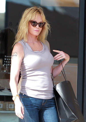 Melanie Griffith at Barneys Beverly Hills