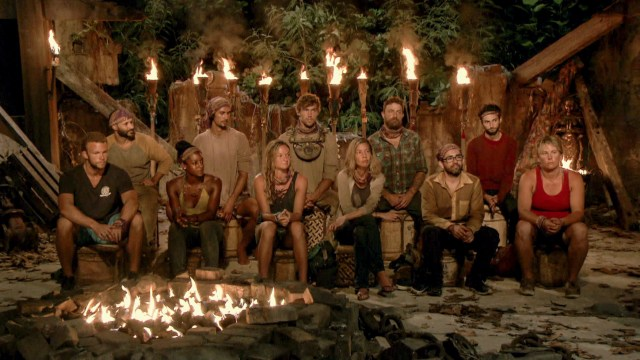 Merge tribe at Tribal Council on Survivor: Heroes Vs. Healers Vs. Hustlers