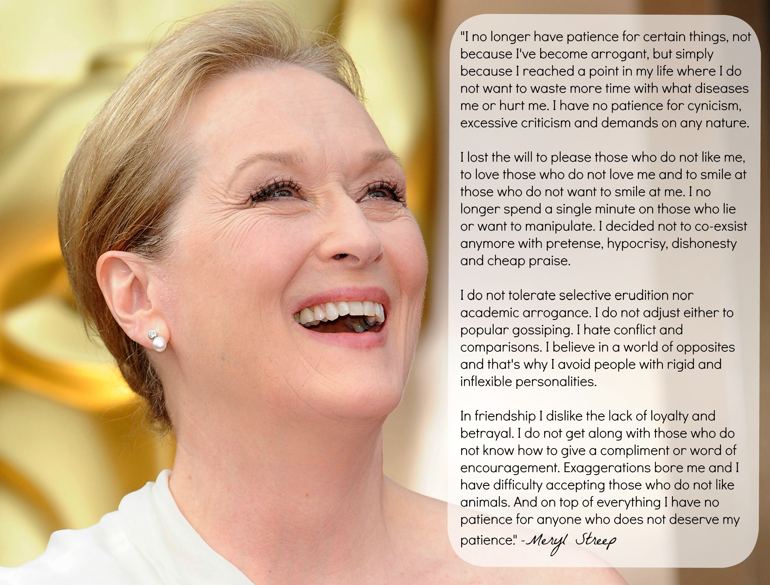 Meryl Streep's insightful quote