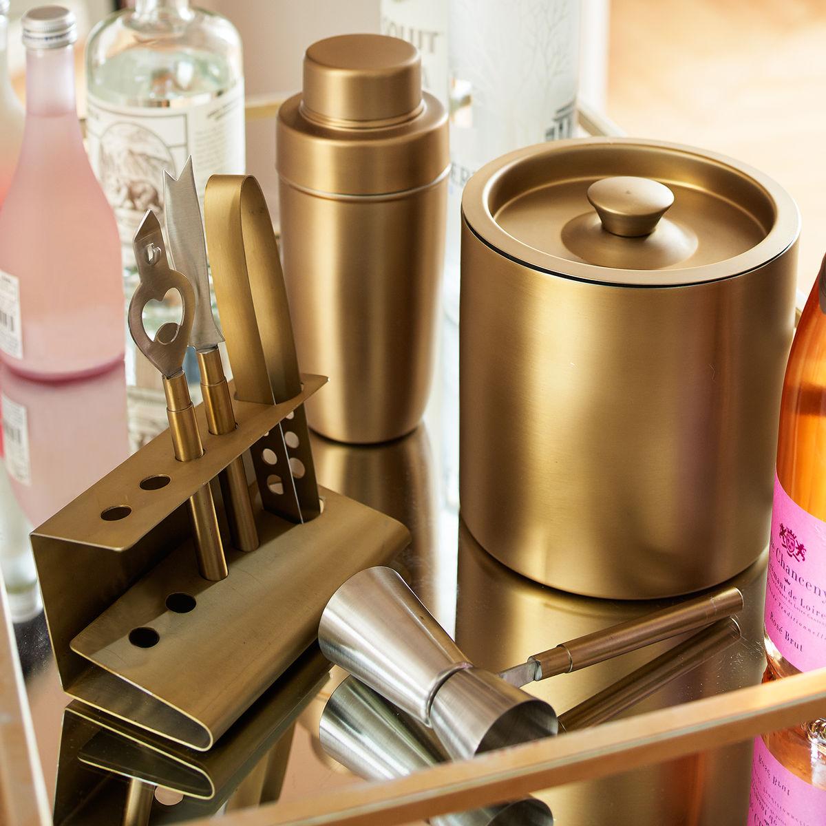 metallic bar accessories