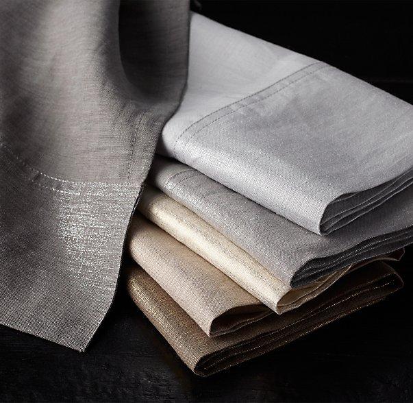 metallic linens