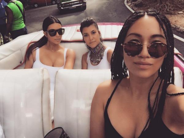 Kim Kardashian and friends in Cuba