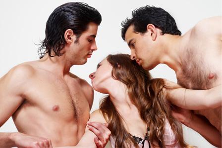 Male, female, male threesome