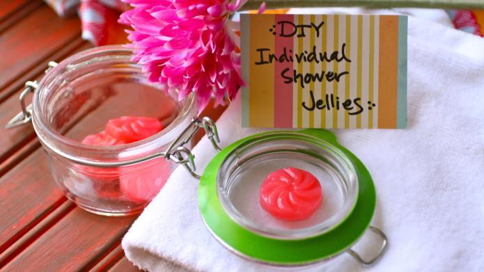 DIY individual shower soap jellies