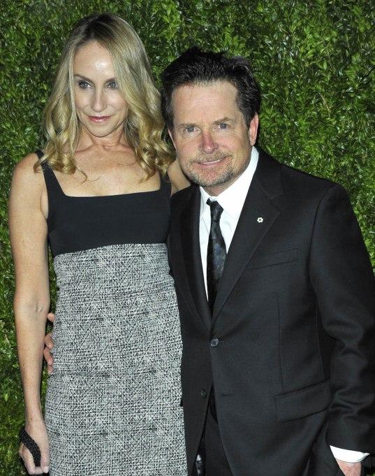 Tracy Pollan and Michael J Fox November 2017
