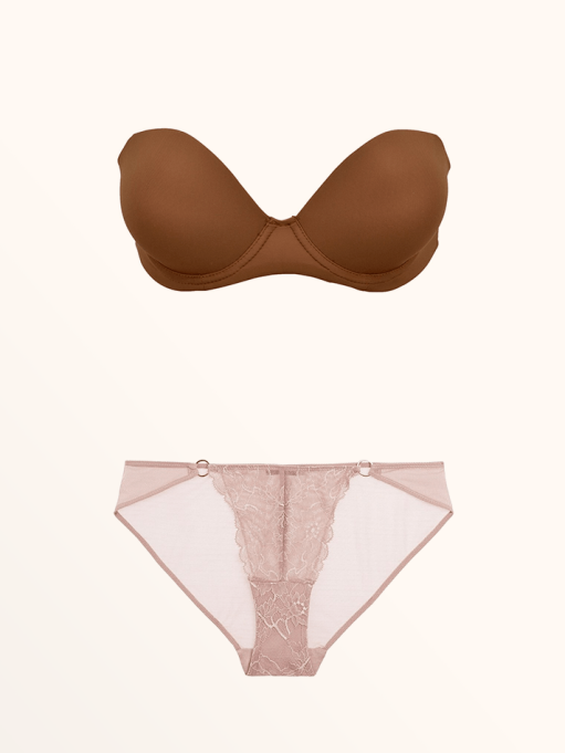Best Lingerie to Wear With Every Summer Outfit | The Strapless Convertible Bra & Elle Macpherson Body Blaze Leavers Lace and Mesh Briefs