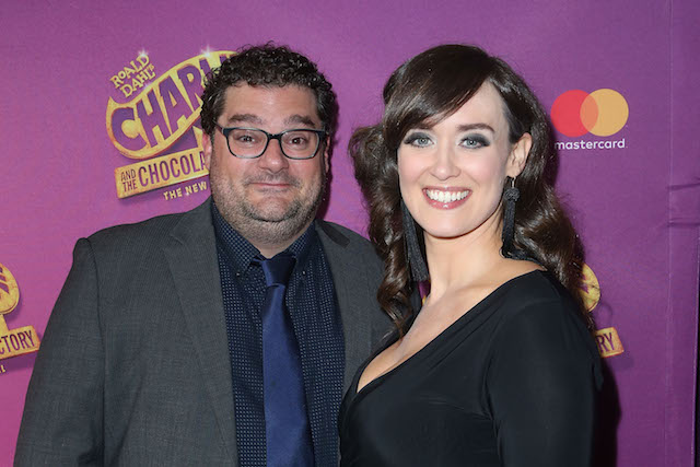 Bobby Moynihan and Brynn O'Malley attend the 'Charlie And The Chocolate Factory' Broadway opening