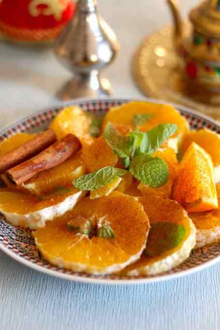 Moroccan orange salad with cinnamon recipe