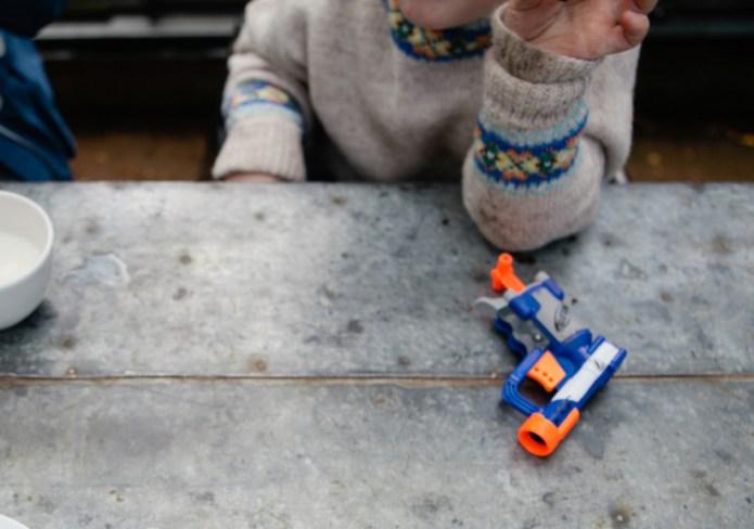 The toy gun my son won't