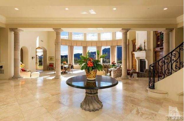 Britney Spears mansion foyer