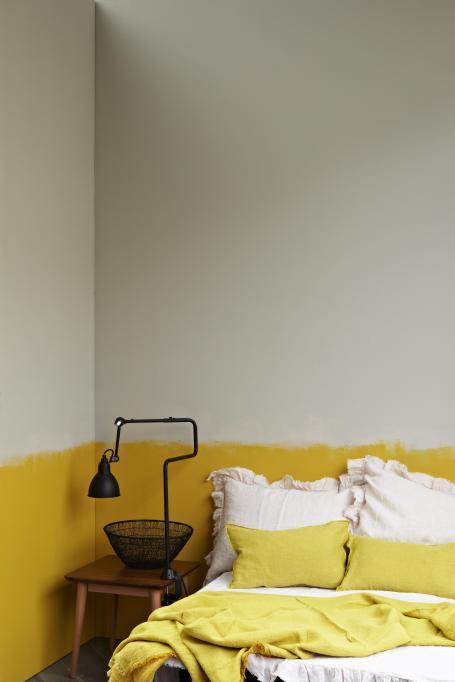 Half-Painted Yellow Bedroom
