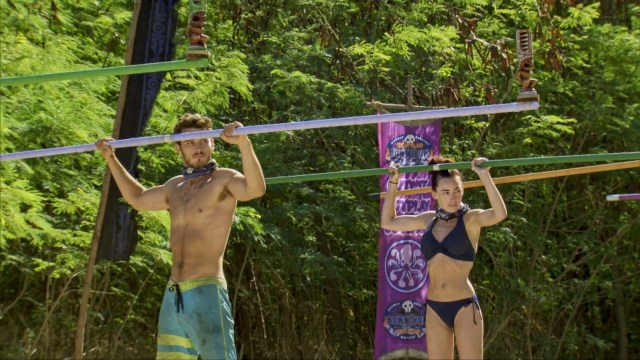 Michael Yerger and Chelsea Townsend compete on Survivor: Ghost Island