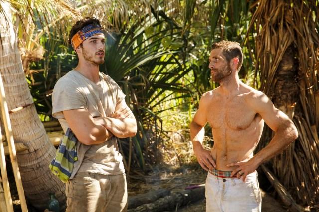Michael Yerger with Brendan Shapiro on Survivor: Ghost Island