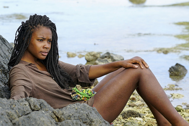 Michaela Bradshaw in confessional on Survivor: Millennials Vs. Gen-X