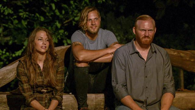 Michelle Schubert, Taylor Stocker and Chris Hammons on Survivor: Millennials Vs. Gen-X