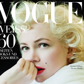Michelle Williams Marilyn-monroe inspired beauty
