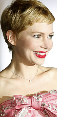 Michelle Williams' short hairstyle