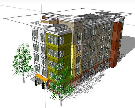 Bike-friendly micro-apartments in Portland