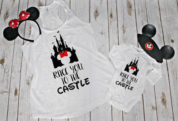 No trip to Disneyland is complete without matching family T-shirts.