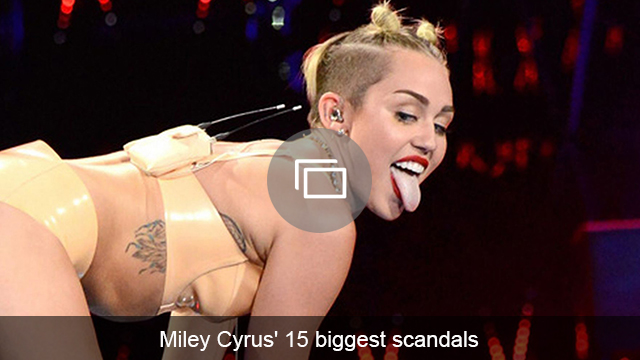 Miley Cyrus scandals slideshow