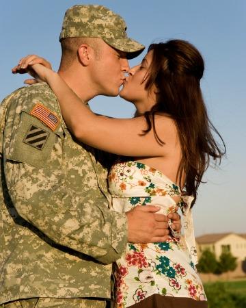 Military husband and wife