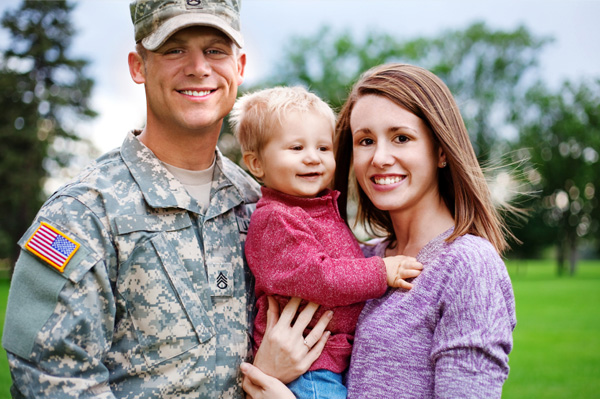 Military family before deployment