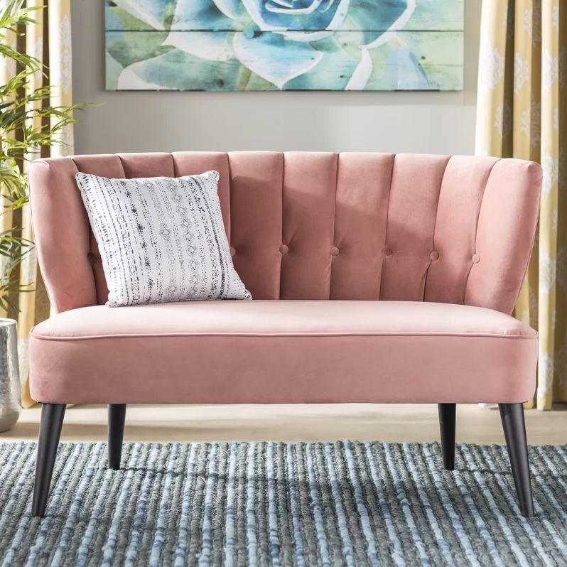 Say bye bye to millennial pink furniture like this sofa