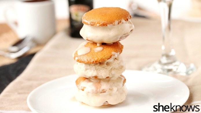 3-Ingredient boozy ice cream sandwiches for
