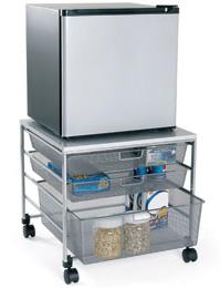 mini fridge cart
