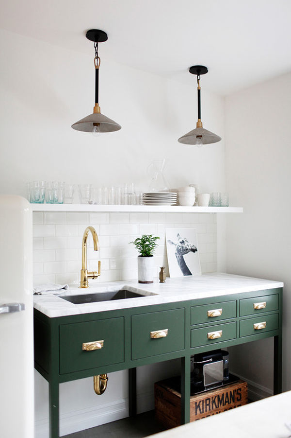 The Best Small Spaces of 2017: Minimalist Kitchen | Home Decor