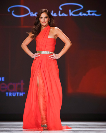 Minka Kelly at the 2013 Red Dress Collection Fashion Show