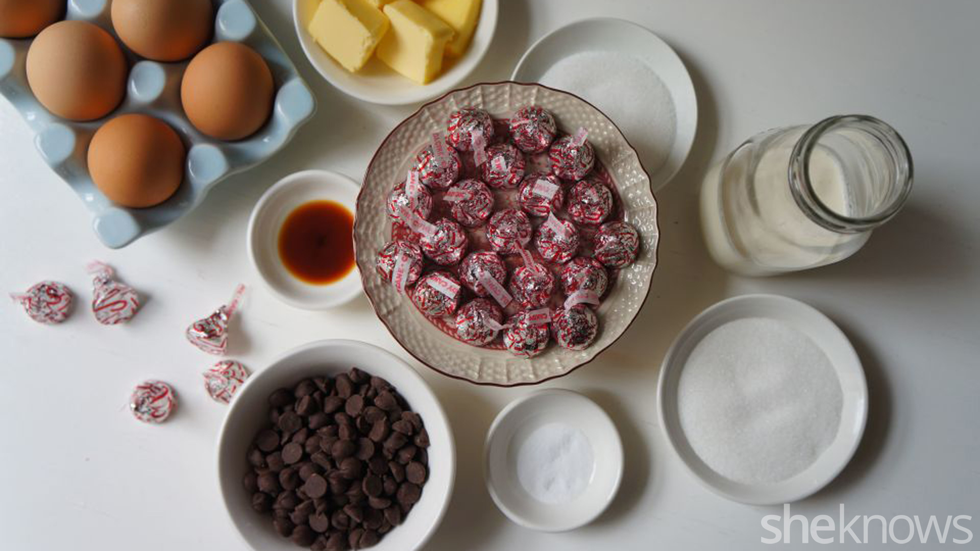 Flourless cakes with candy cane mint candies
