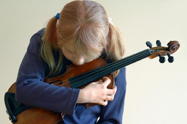 Tween with Violin