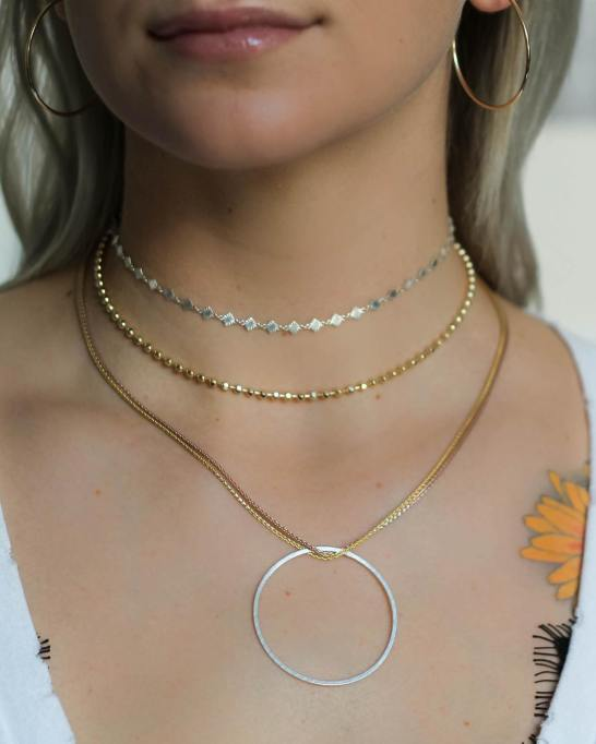 Sliver and gold necklaces