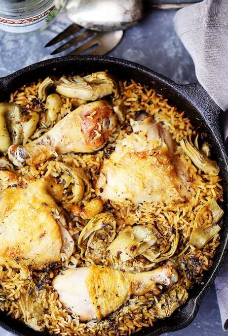 One-pot summer meals | Chicken and rice with artichokes
