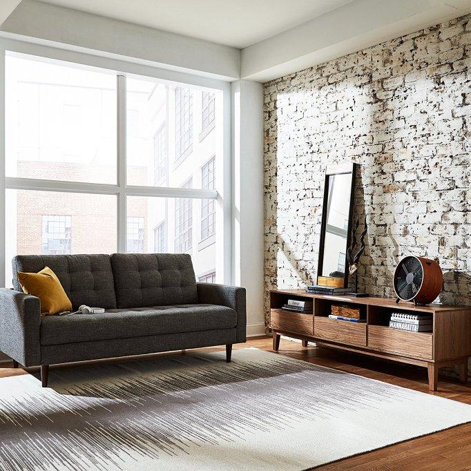 Rivet Cove Mid-Century Tufted Sofa