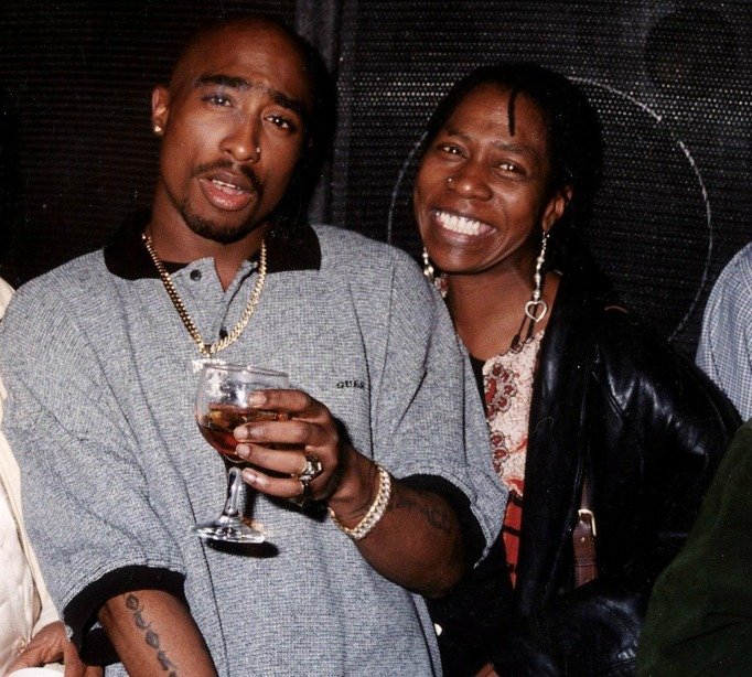 Tupac and his mother, Afeni Shakur